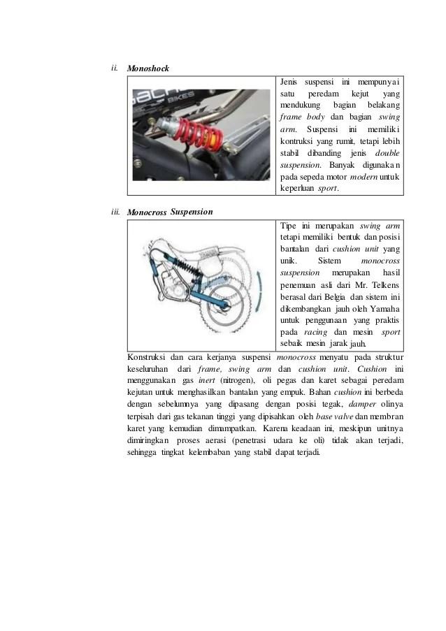 Jenis Jenis Suspensi Sepeda Motor : jenis, suspensi, sepeda, motor, Modul, Perawatan, Suspensi, Sepeda, Motor