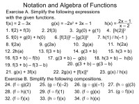 1.5 notation and algebra of functions