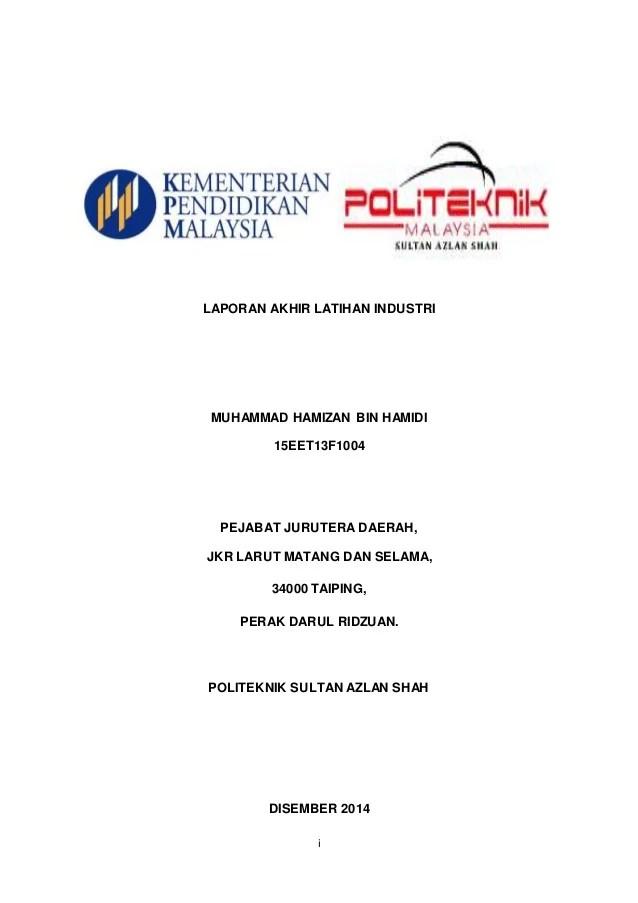 Contoh Laporan Latihan Industri Politeknik Tuanku Syed Cute766