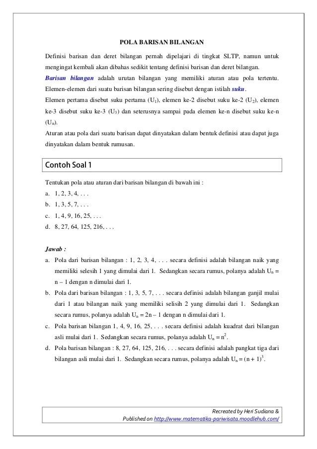 Contoh Soal Pola Bilangan Beserta Jawabannya : contoh, bilangan, beserta, jawabannya, Barisan, Bilangan