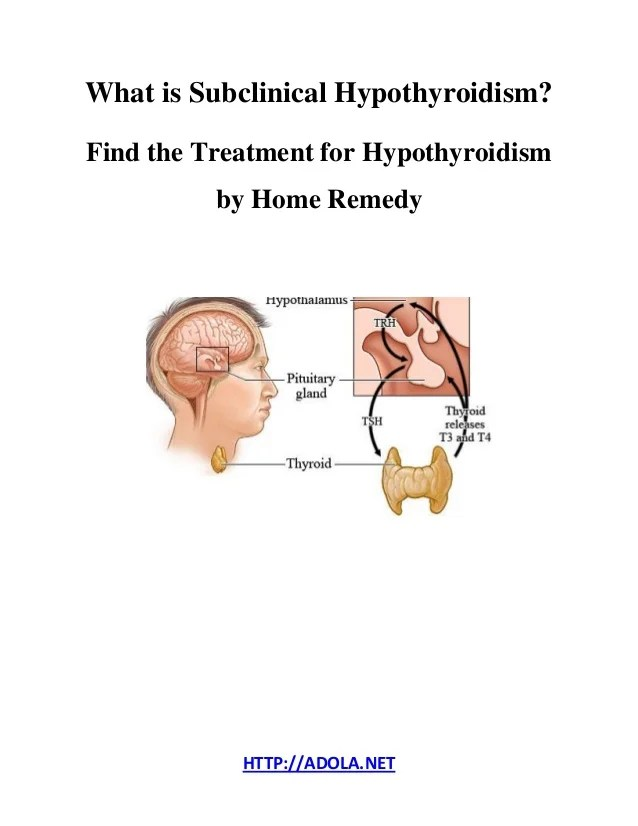 What is Subclinical Hypothyroidism? Find the Treatment for ...