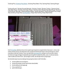 Biaya Baja Ringan Dan Genteng Wa Telp 0821 8614 8884 Beton Banyuwangi Biay