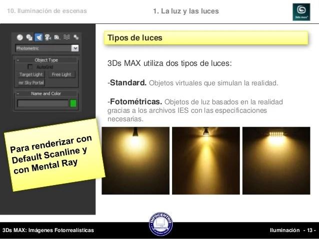 3Ds MAX  10 iluminacion