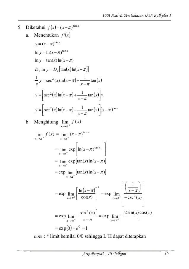 Variasi menyatakan bahwa persamaan euler merupakan syarat perlu. Kalkulus Adalah Pdf Siswapelajar Com