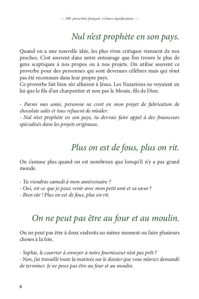 Nul N'est Prophete En Son Pays : n'est, prophete, Proverbes, Français