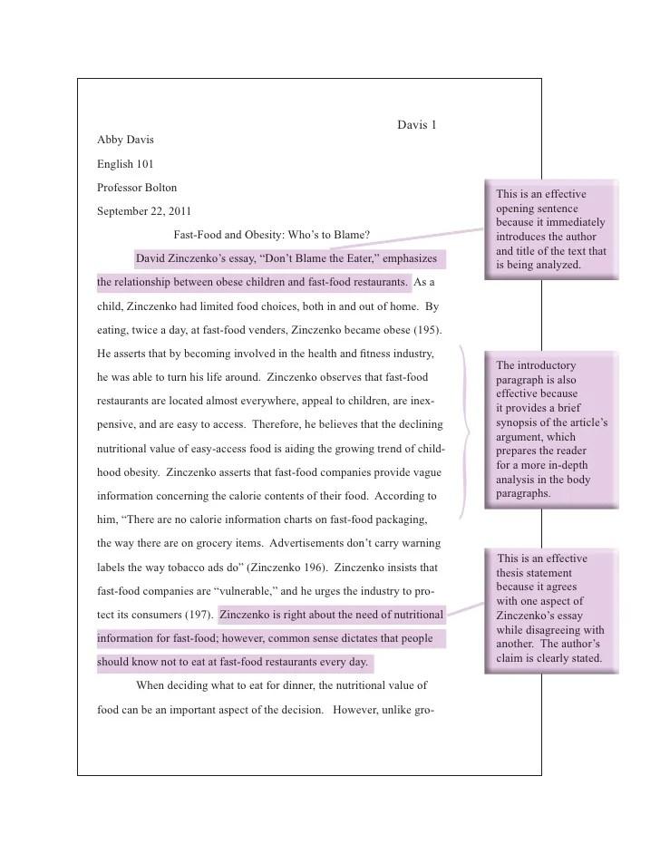 argumentative essay on obesity