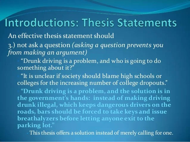 Examples Of A Thesis Statement For An Essay Engresearch Paper