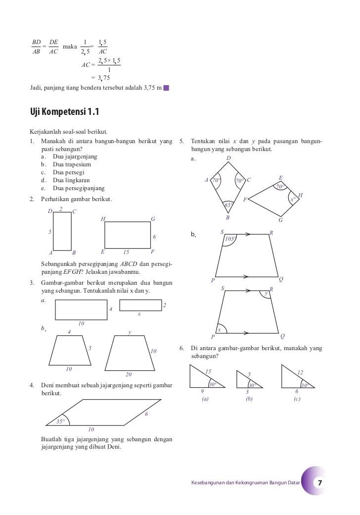 Rumus Kesebangunan Trapesium : rumus, kesebangunan, trapesium, Rumus, Trapesium, Sebangun