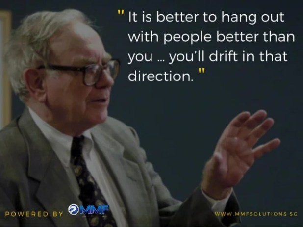 """ It is better to hang out with people better than you  you'll drift in that direction.  ""  POWERED BY @L9""""'*t WWW. MMFSO..."