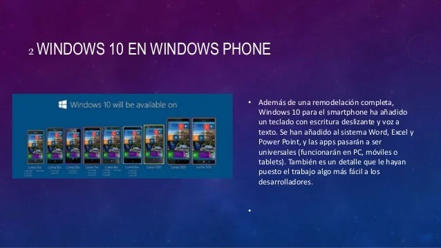 10 caracteristicas de windows 10