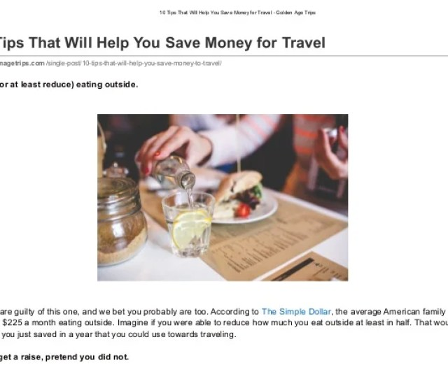 10 Tips That Will Help You Save Money For Travel