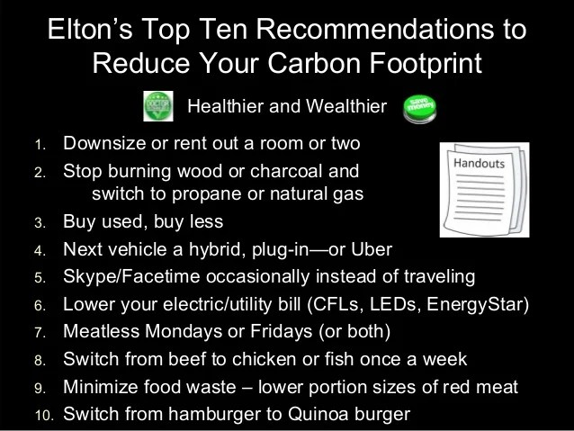10 Ways To Lower Your Carbon Footprint