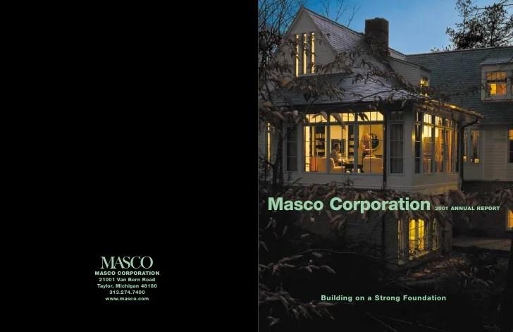 Masco Annual Report2001