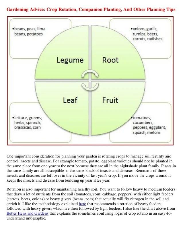 Gardening Advice  Crop Rotation, Companion Planting, and