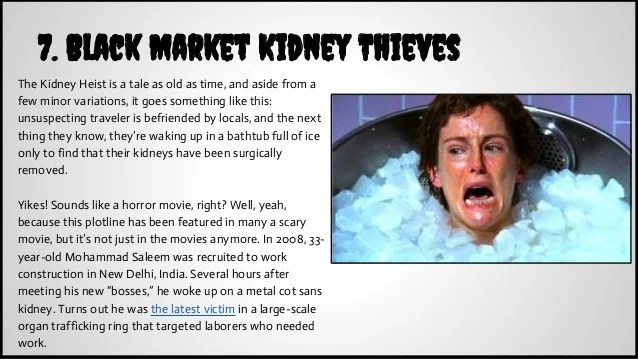 7 Black Market Kidney Thieves