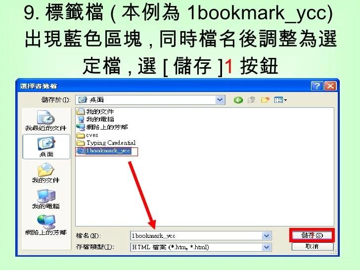 1 1我的最愛標籤檔如何匯入指定的資料夾(以Ie 6為例)