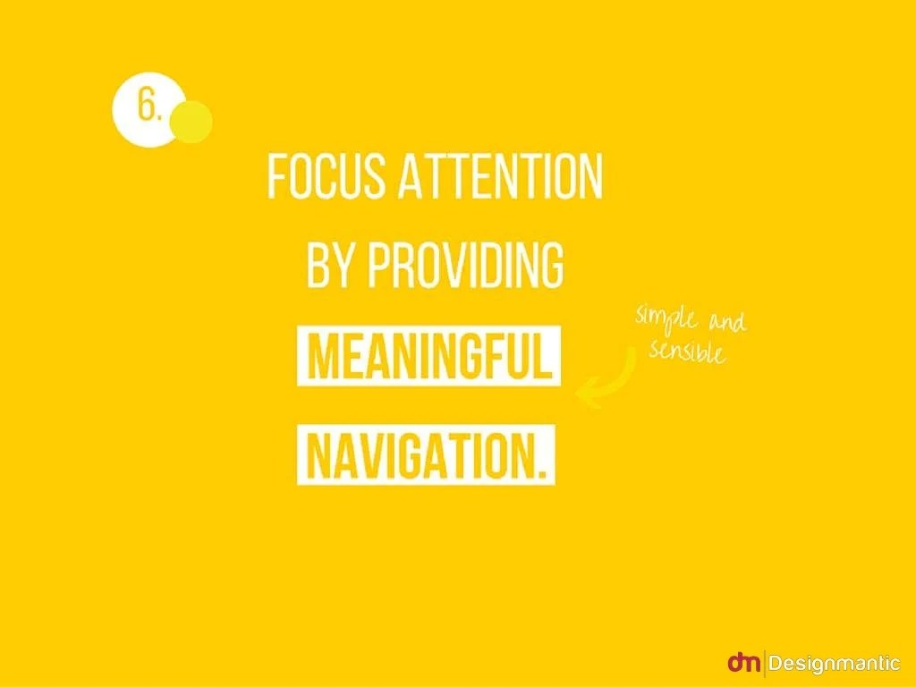 6 Focus Attention By Providing