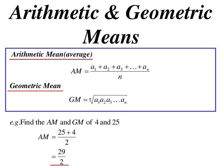 11X1 T14 03 arithmetic & geometric means (2010)