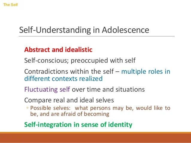 Adolescence Self Concept