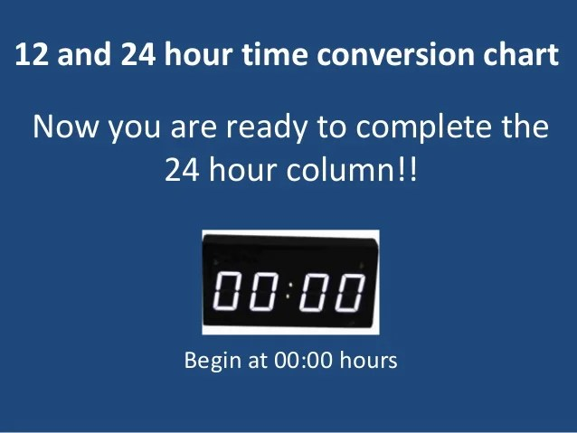 and hour time conversion chart now you are ready to complete the also  rh slideshare