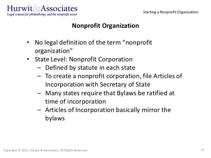 Starting A Nonprofit Organization