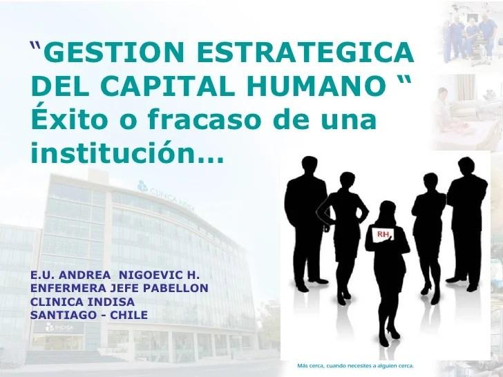 Gestion Estrategica Del Capital Humano Como Valor Agregado