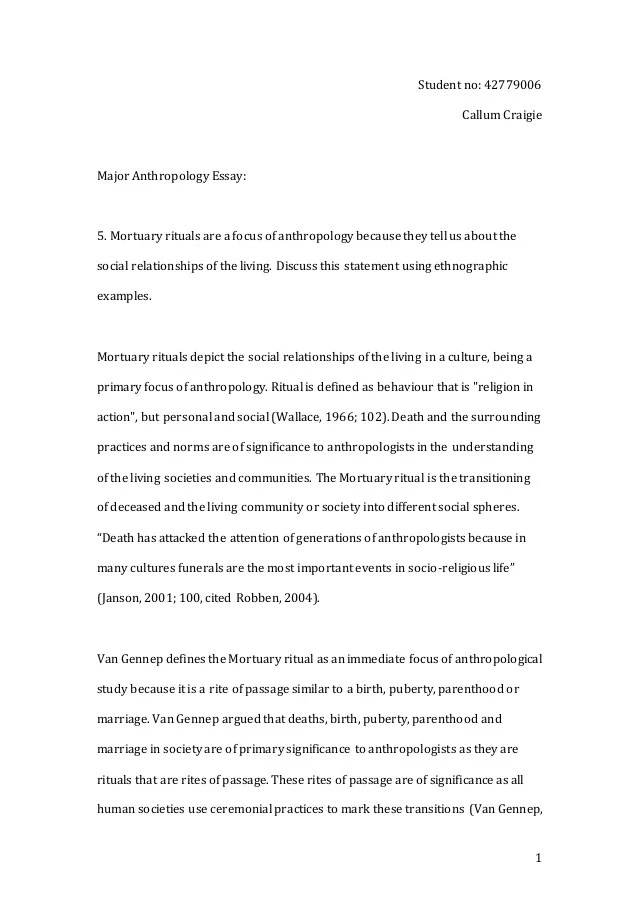Essay On Anthropology N Youth Culture Essay Anthropology Edu Essay