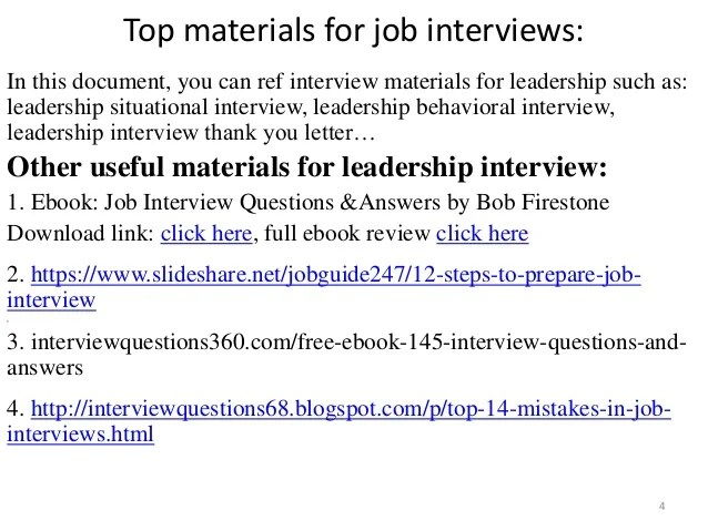 interview questions for a team leader