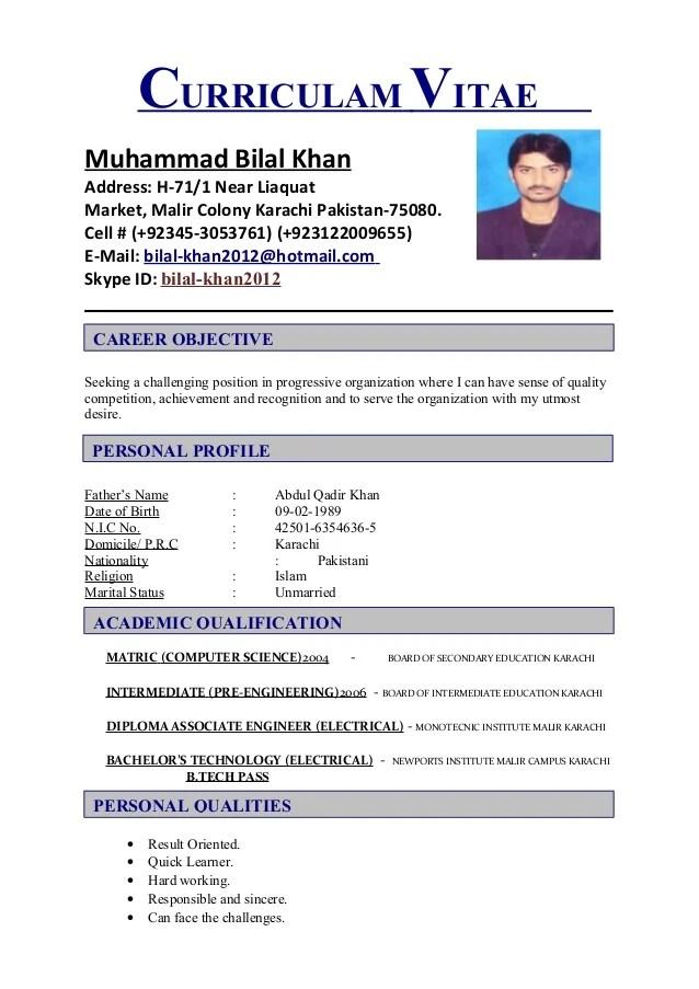 Bilal Cv