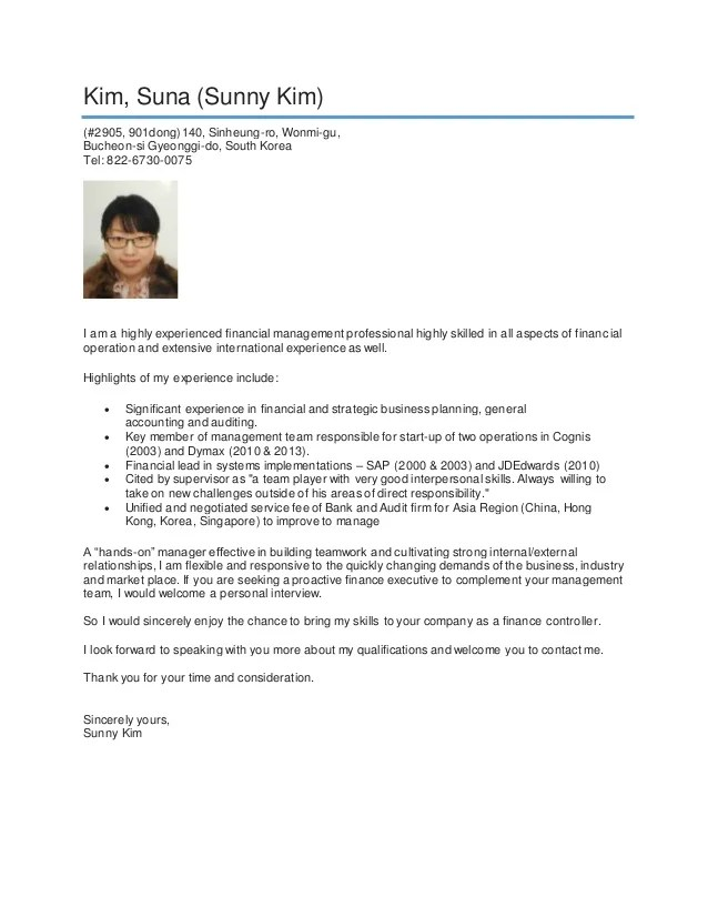 English Teacher Korean Resume Example