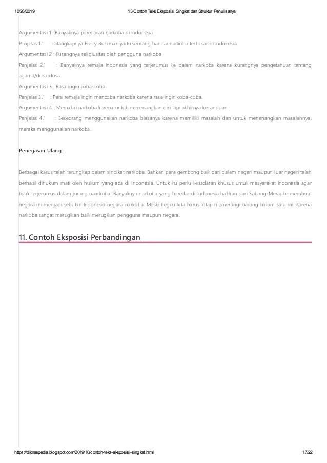 Yang Dimaksud Teks Eksposisi : dimaksud, eksposisi, Contoh, Eksposisi, Singkat, Struktur, Penulisanya