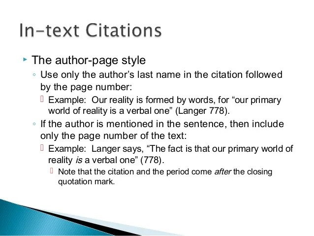 English 104 Quotations And Citations