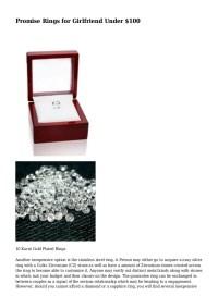 Promise Rings for Girlfriend Under $100