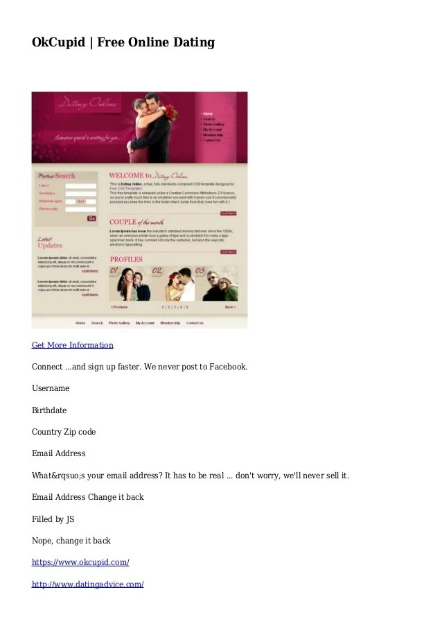 okcupid free online dating