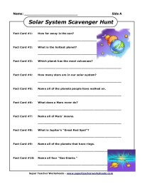 5th Grade Science Worksheets Solar System