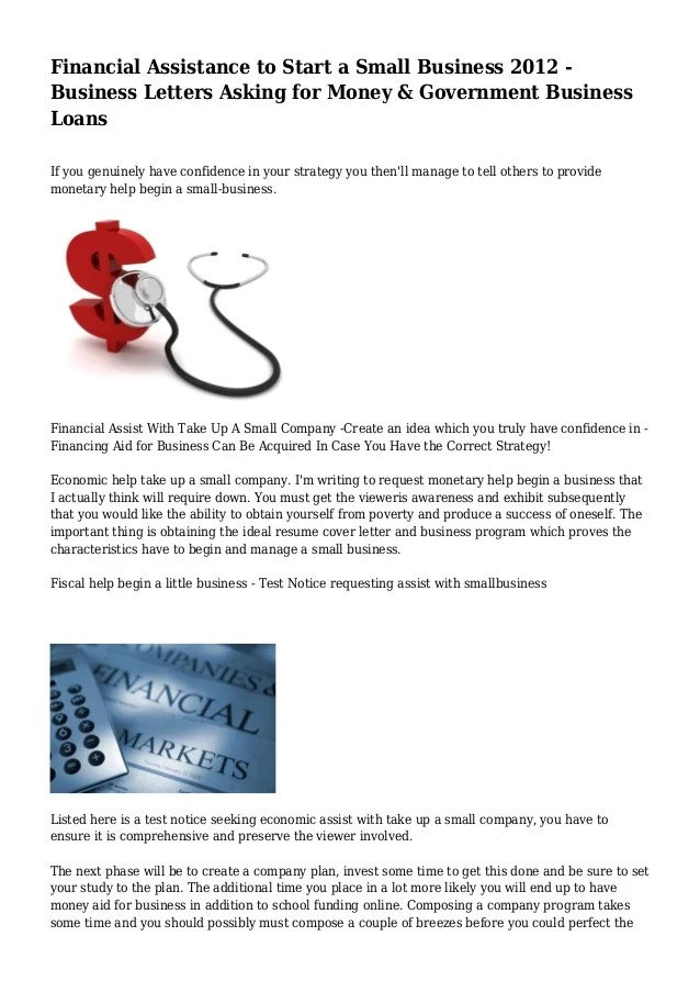 Sample Letter Asking For Financial Assistance For Education Sample