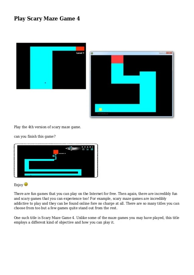 Play Scary Maze Game 4