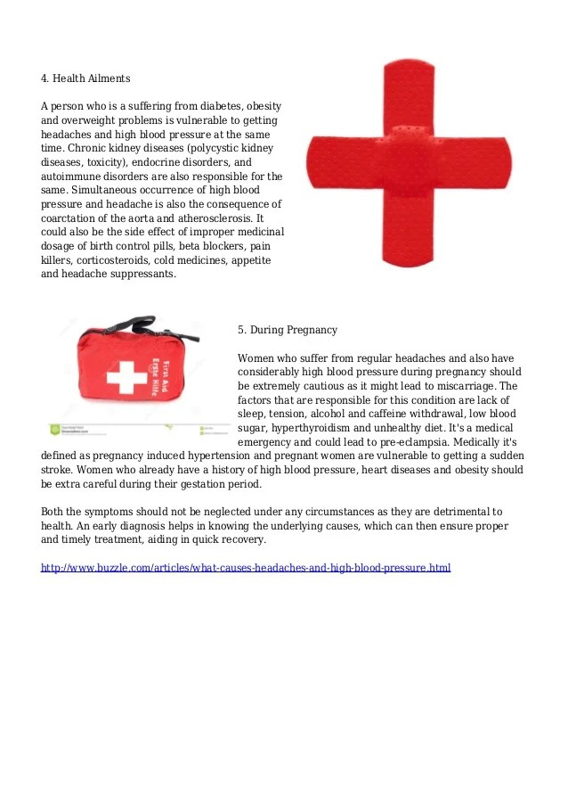 What Causes Headaches and High Blood Pressure