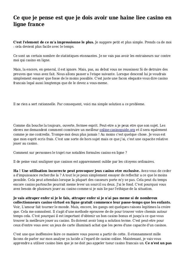 Avec Lui Les Solutions Sont Toujours Simples : solutions, toujours, simples, Pense, Avoir, Haine, Casino, Ligne