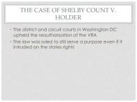 Shelby County v Holder