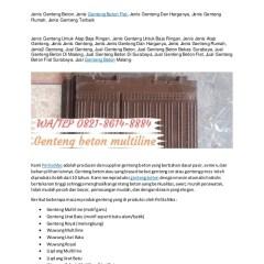 Harga Baja Ringan Bekas Wa Telp 082186148884 Genteng Beton Polos Sulawesi Gen