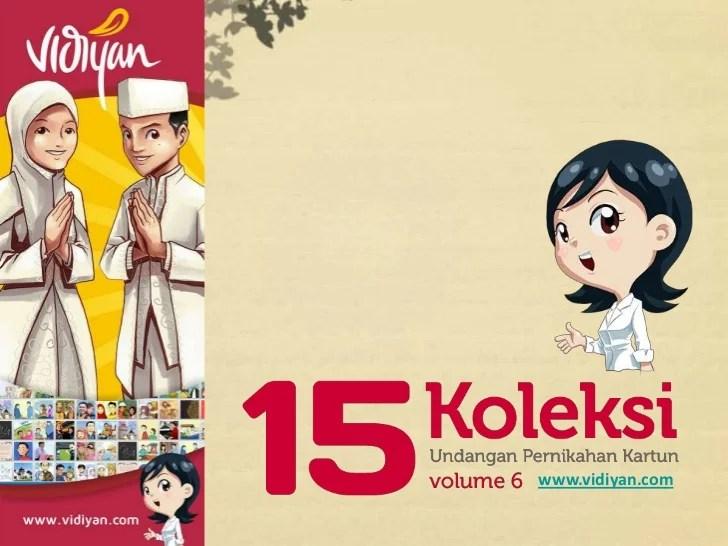 15 koleksi undangan pernikahan kartun vol 6