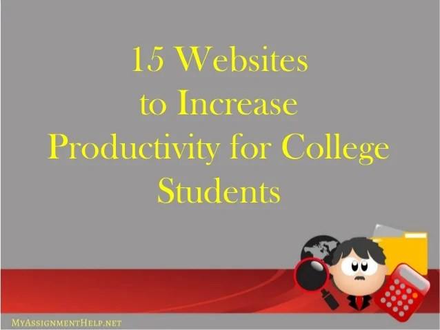 15 websites to increase productivity for students