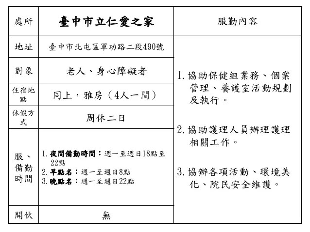 【161】社家署服勤單位 掛網