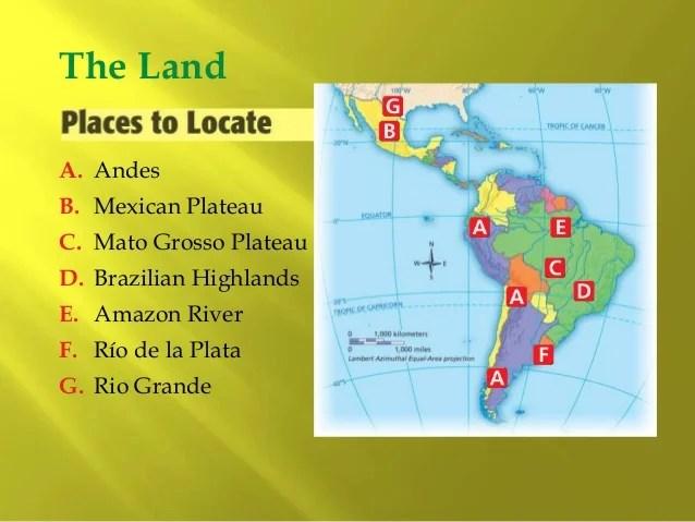 Patagonian Map Plateau Physical Latin America