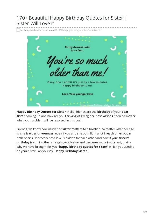 Twin Sister Birthday Quotes : sister, birthday, quotes, Beautiful, Happy, Birthday, Quotes, Sister,, Sister, Lo…
