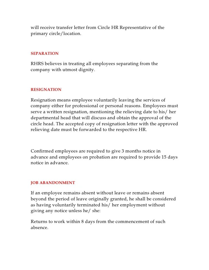 Resignation Letter Sample Canada Sample Business Proposal