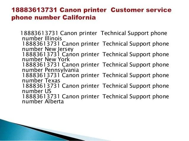 18883613731 canon printer customer service phone number
