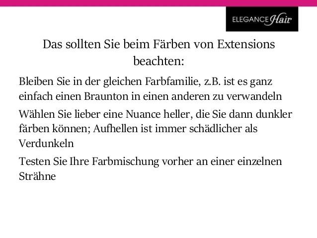 Echthaar Extensions frben