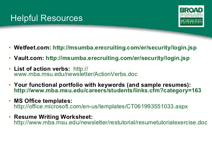 Action Verbs For Mba Resume - Resume Examples | Resume Template